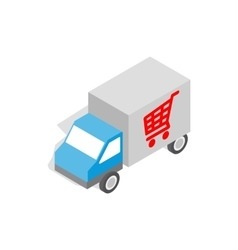 Truck for delivery icon isometric 3d style vector image