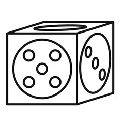 vegas dice icon outline style vector image
