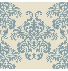 Vintage Rococo Floral ornament pattern vector