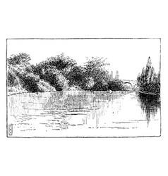 water scene vintage vector image