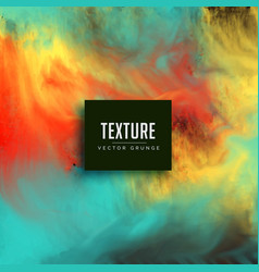 Watercolor ink flowing texture background vector