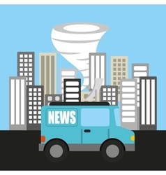 Weather report news icon vector