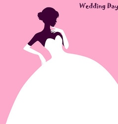 Wedding Fashion elegant bride dress vector image