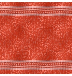 Christmas knitted sweater design pattern vector image vector image