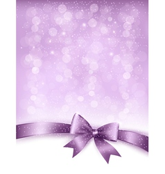 Elegant holiday background with gift bow and vector image