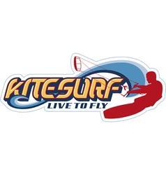Kite surfing vector image