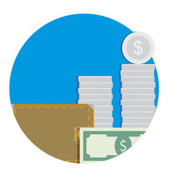 salary icon flat vector image vector image