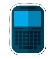 smartphone mobile technology display shadow vector image vector image