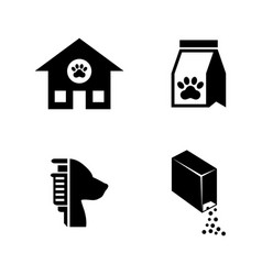 animal shelter simple related icons vector image