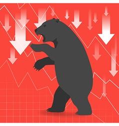 Bear market presents downtrend stock market vector image vector image