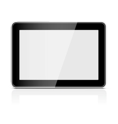 Black generic tablet pc vector image vector image