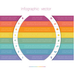 colorful strips and white semicircles for text 8 vector image