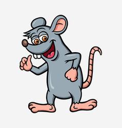 mouse or rat cartoon character vector image
