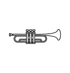 Music tube icon outline style vector image vector image