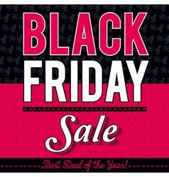 Black friday sale banner on patterned background vector