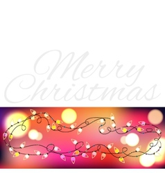 Christmas Garland With Gradient Mesh and lights vector image