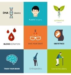 Medical Logo Set vector image