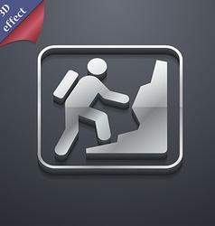 rock climbing icon symbol 3D style Trendy modern vector image vector image