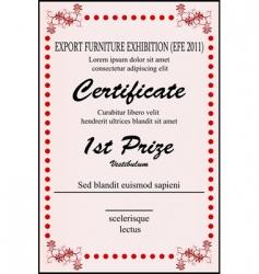 sample certificate vector image
