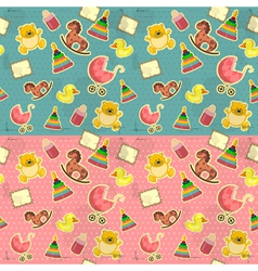 seamless infant deco pattern vector image