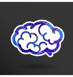 Brain icon mind medical brainstorm head vector image