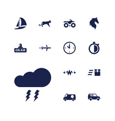 13 speed icons vector