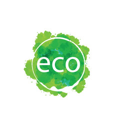 abstract eco sign of the icon vector image