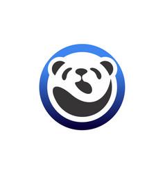 abstract panda logo icon vector image