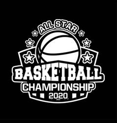 All star basketball championship 2020 vector