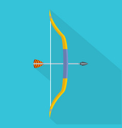 Archery game icon flat style vector