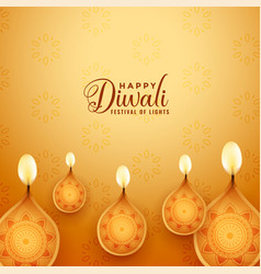 Beautiful happy diwali festival background in vector
