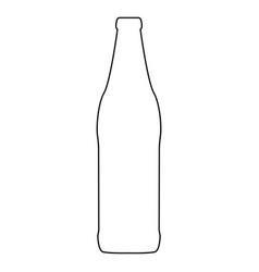 Beer bottle black color path icon vector
