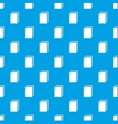 biscuit ice cream pattern seamless blue vector image