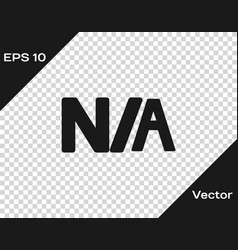 Black not applicable icon isolated on transparent vector