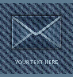 blue jeans envelope vector image