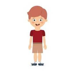 Boy standing in front isolated icon design vector