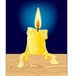 Burninging candle vector image