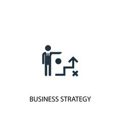 Business strategy icon simple element vector