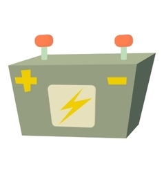 Car battery icon cartoon style vector