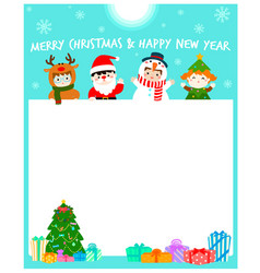 Cartoon of cute kids wearing christmas card vector