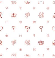 Celebration icons pattern seamless white vector