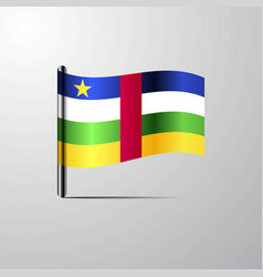 central african republic waving shiny flag design vector image