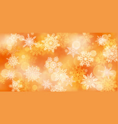 christmas background blurry snowflakes vector image