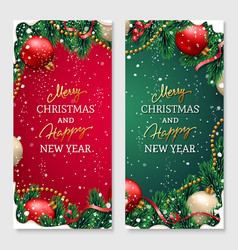 christmas design for poster or greeting card vector image
