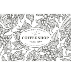 coffee tree banner template vector image