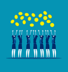 Concept business people rejoice vector