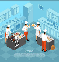 Cook duties isometric composition vector