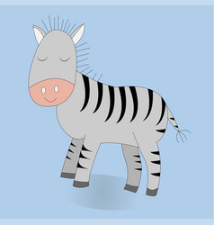 cute cartoon zebra print vector image