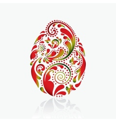 easter egg from leaf pattern vector image