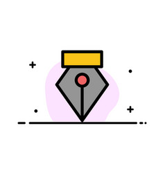 Editor pen photo business flat line filled icon vector